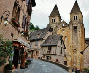 Abbey of Conques in Aveyron in southern France