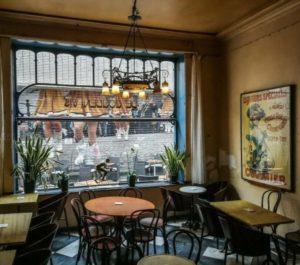 Art-noveau café in Mechelen in Flanders in Belgium