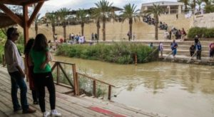 Baptisms in the Jordan River in Bethany in Jordan