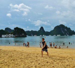 Beach in Halong Bay