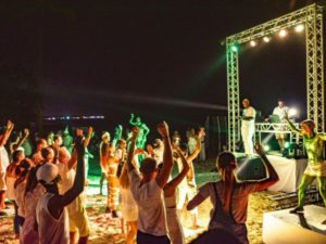 Beach party at Grand Palladium Hotels & Resorts in Punta Cana
