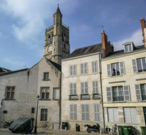 Belfroi Tower in historic center of Orleans in Loire Valley