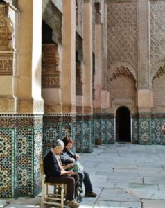 Ben Youssef Medersa in Marrakech in Morocco
