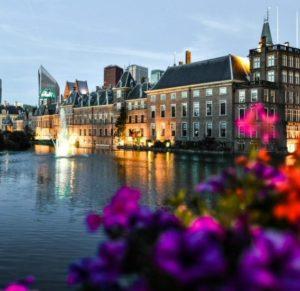 Binnenhof castle in The Hague in Holland