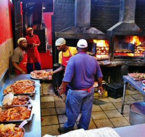 Braai, traditional barcacoa at Gugulethu in Cape Town