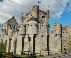 Castle of the Counts of Flanders in Ghent in Belgium