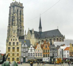 Cathedral of San Romuldo in Mechelen in Flanders in Belgium