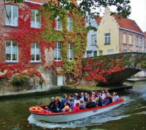 Channels of Bruges in Belgium
