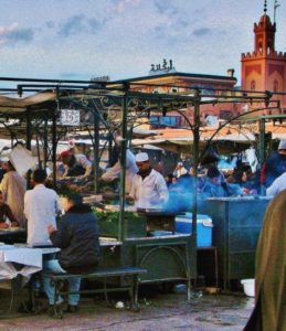 Chiringuitos in the Jemaa El Fna square in Marrakech