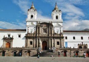 Church of San Francisco in the historic center of Quito in Ecuador