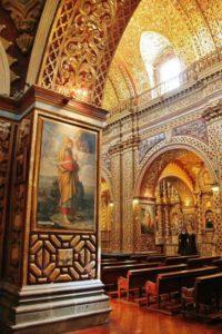 Church of the Company in Quito in Ecuador