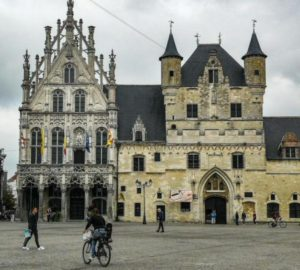 City Hall on the Great Mechelen Square in Flanders in Belgium