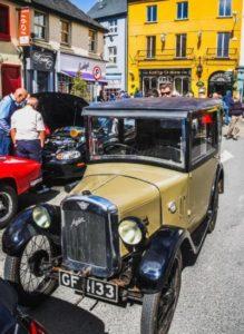 Classic car rally in Kinsale near Cork in Ireland