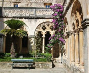 Cloister of the monastery of the Dominicans in Dubrovnik in Croatia