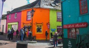 Colorful houses in Kinsale near Cork in Ireland