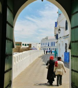 Corner in the medina of Asilah in northern Morocco