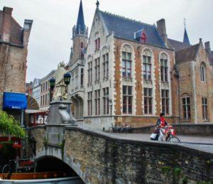 Corner of Bruges in Belgium
