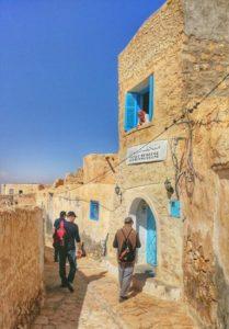 Corner of the Berber village of Tamezret in Tunisia