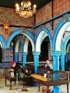 Corner of the Jewish synagogue on the island of Djerba in Tunis