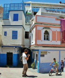 Corner of the Medina of Tangier in northern Morocco