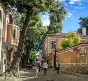 Corner of the Old City of Plovdiv in Bulgaria