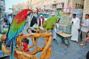 Corner of the Souq Waqif in Doha in Qatar