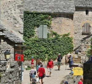 Corner of the Templar village of La Couvertoirade in southern France