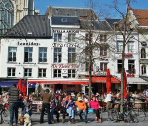 Corner of the central Groenplaats in Antwerp