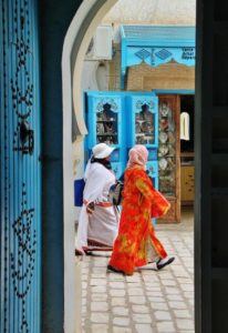 Corner of the medina of the island of Djerba in Tunisia