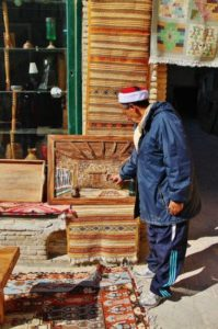 Crafts in the medina of Tozeur in Tunisia