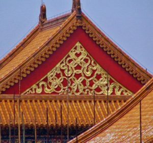 Decorative detail in the Forbidden City of Beijing