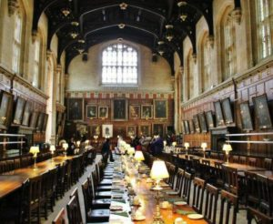 Dining room of the Christ Church College in Oxford