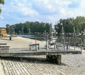 Dock of Chatelet in Orleans in Loire Valley