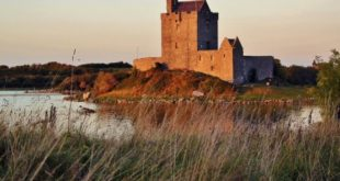 Dunguaire Castle on the route of the Atlantic coast of Ireland