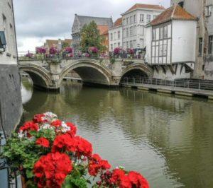 Dyle Canal in Mechelen in Flanders in Belgium