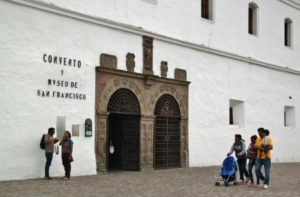 Entrance to the museum of the San Francisco church in Quito