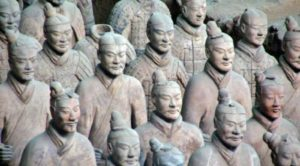 Excavations of the Terracotta Warriors in Xian