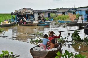 Fishing village Tonle Sap in Cambodia