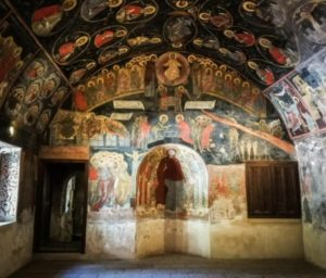 Former refectory the Bachkovo monastery in Bulgaria