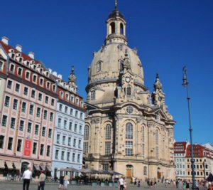Frauenkirche church in the historic center of Dresden