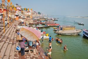 Ganges River in Varanasi in India