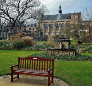 Gardens of Balliol College in Oxford