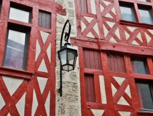 Half-timbered houses in Orleans in the Loire Valley