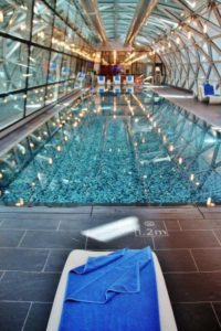 Hamad airport pool in Doha