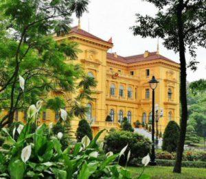 Hanoi Presidential Palace in Vietnam