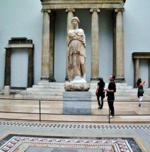 Hellenic art in the Pergamon museum in Berlin