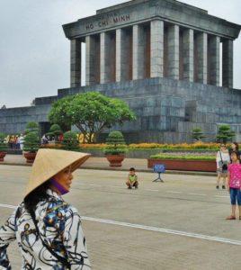 Ho Chi Ming mausoleum in Hanoi in Vietnam