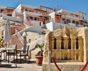 Hotel at the entrance to the Petra site in Jordan