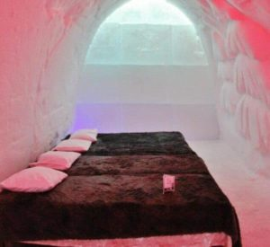Ice hotel in Snowman World near Rovaniemi