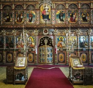Iconostasis of the Orthodox Church of Bansko in Bulgaria